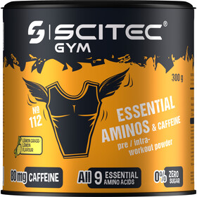 SCITEC Essential Amino & Caffeine Workout Powder 300g, Lemongrass